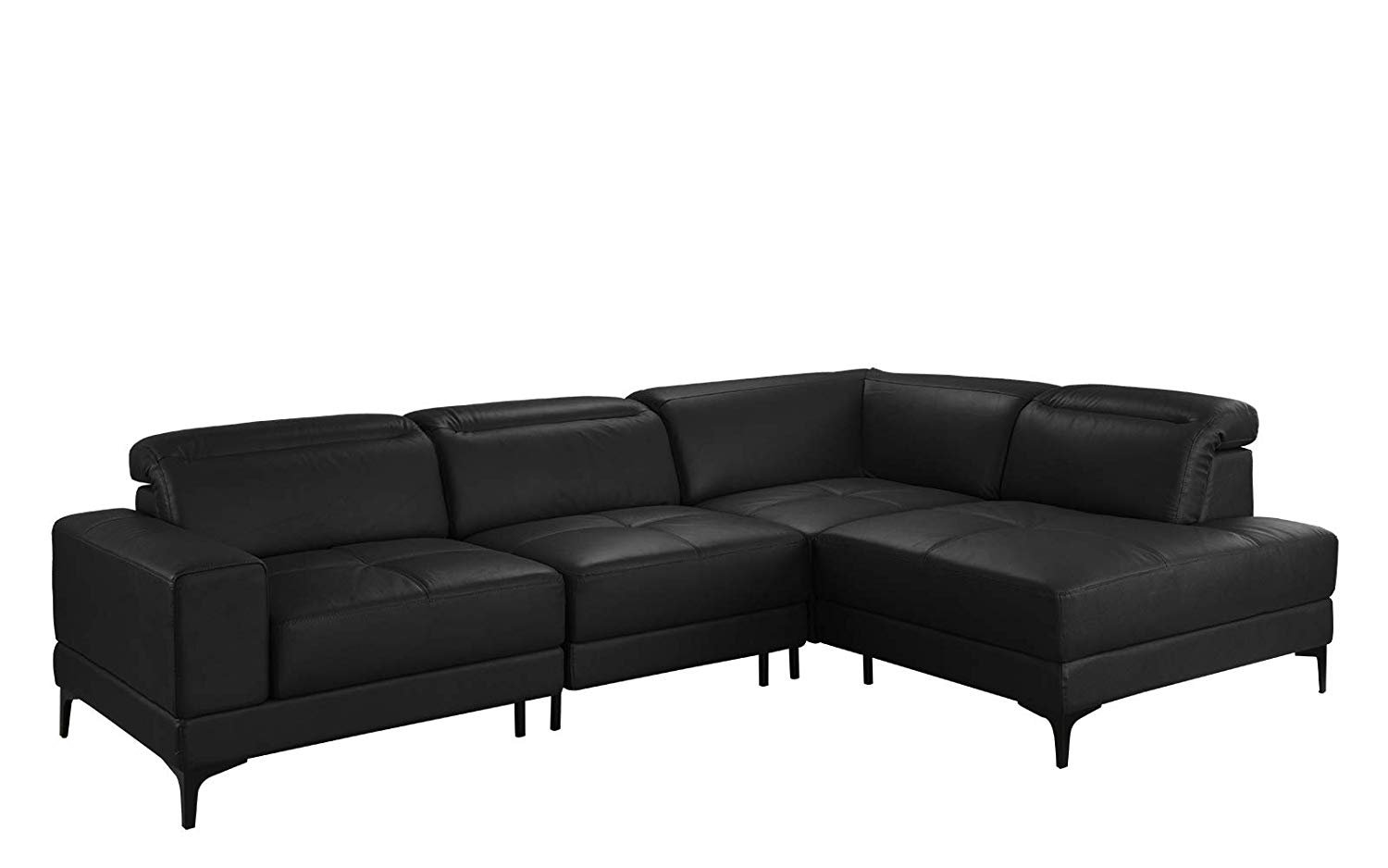 Large Modern Leather Sectional Sofa, Living Room L-Shape Couch ...