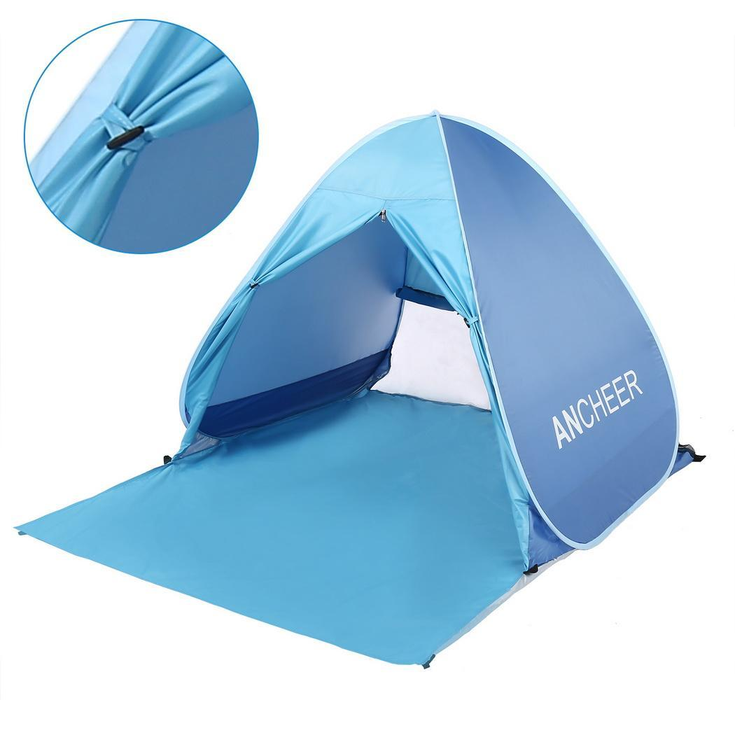Lightweight Beach Shade Tent Sun Shelter, Automatic Pop up Instant Portable Family Anti UV Cabana by