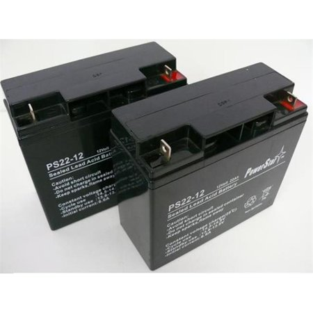 Powerstar Ps12 22 Qty2 28 12V 22Ah Upgrade From 12V 18Ah Replacement Battery Kit For Apc Rbc7 Ups   Pack Of 2