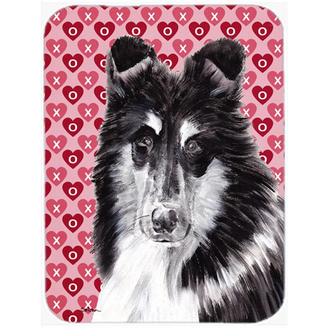 Collie Hearts And Love Mouse Pad, Hot Pad Or Trivet, 7.75 x 9.25 In.