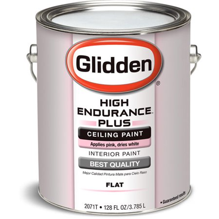 Glidden ceiling paint grab n go pink to white 1 gallon for Top rated ceiling paint