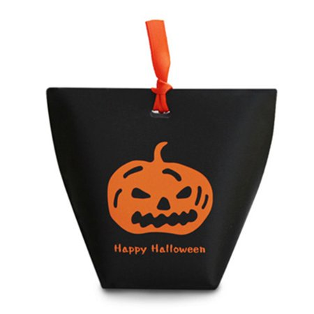 Halloween Treat Bag Crafts For Preschoolers (AkoaDa Halloween Party Decoration Craft Gift Bag Pumpkin Ghost Paper Candy Cookies Box Trick Or)