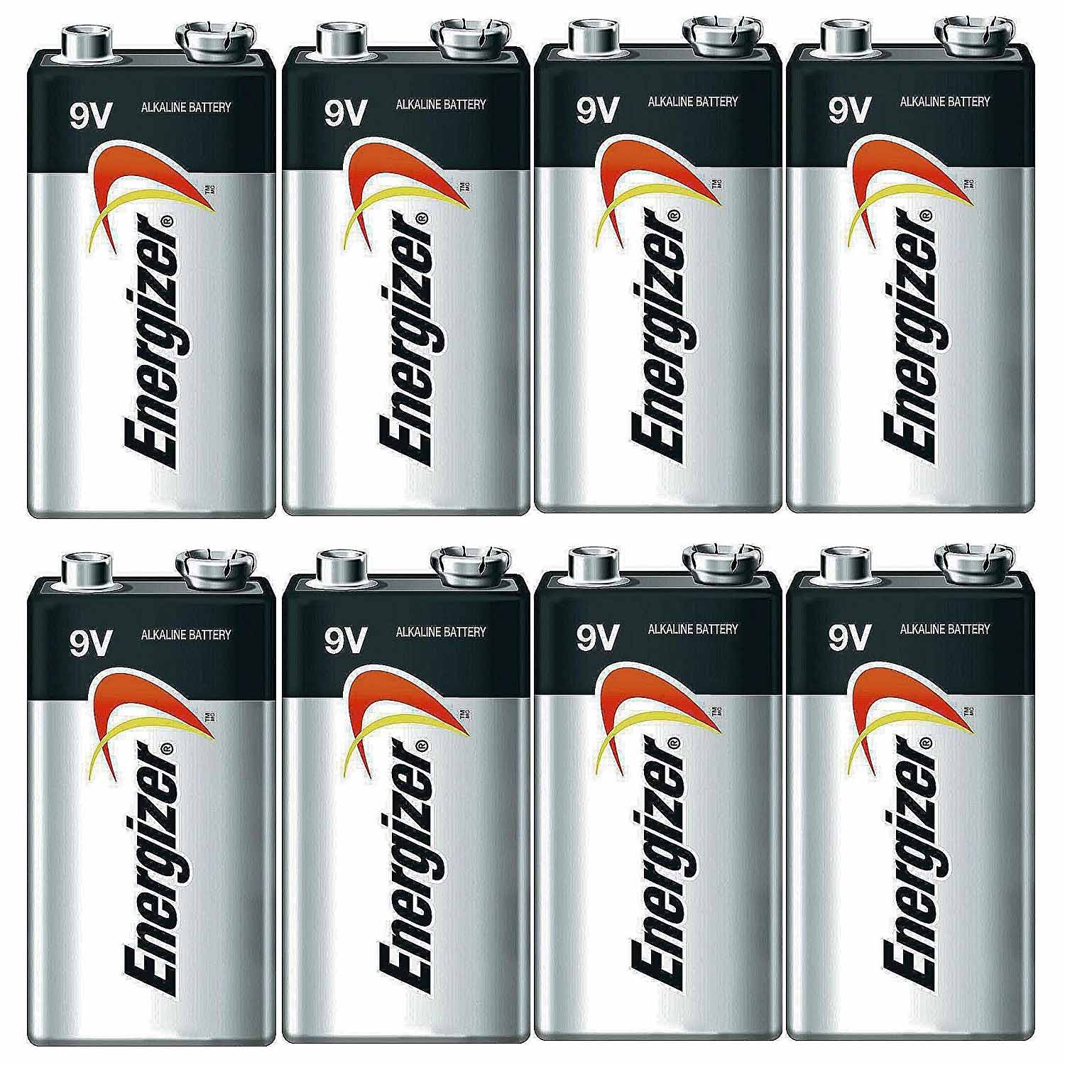 Energizer E522 Max 9 Volt Alkaline Battery - 8 Batteries + 30% Off!