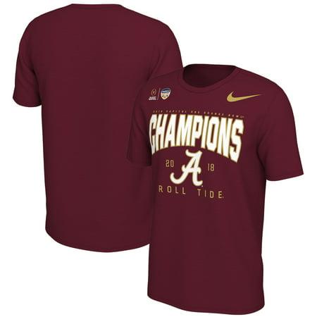 Alabama Crimson Tide Nike College Football Playoff 2018 Orange Bowl Champions Locker Room T-Shirt - Crimson College Football Locker Room