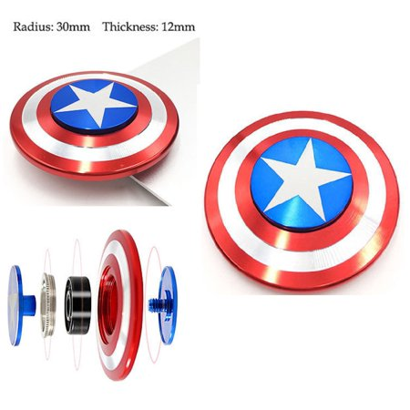 CAPTAIN AMERICA ALLOY FIDGET SPINNER FINGER SPIN TOY GIFT- ANTI-ANXIETY RELIEVES Stress/ADD/AUTISM/ADHD