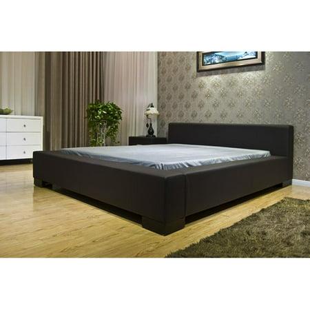 Greatime B1142 Modern Platform Bed, Queen, Dark Brown