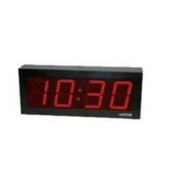 Valcom VIP-D440ADS 4 inch Digital Clock, 4 Digit Display,...