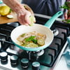 """GreenLife Soft Grip Healthy Ceramic Nonstick, Frying Pan, Skillet, 8"""", Turquoise"""
