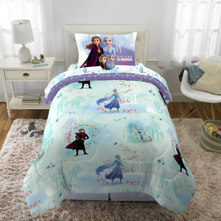 Disney Frozen 5-Piece Bed in a Bag, TWIN Size, with BONUS Tote!