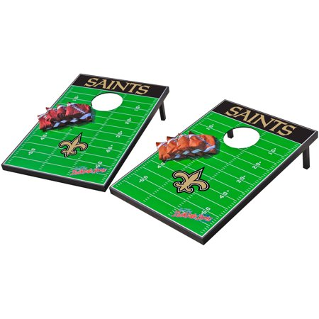 Wild Sports NFL New Orleans Saints 2x3 Field Tailgate Toss - New Orleans Saints Halloween Decorations