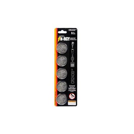 ULTRA N-RGY 3V Button Cell Battery - 5 Pack, Lithium, CR2430  - U12-42476