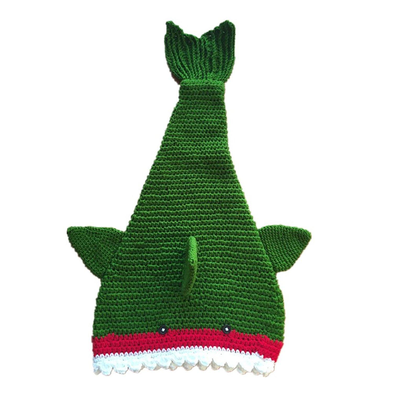 Shark Tail Blanket - Knit Handmade Crochet Baby Swaddling...