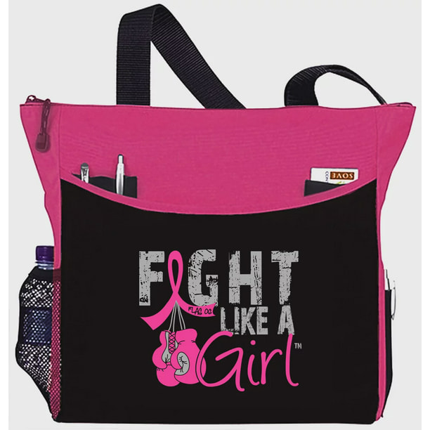 Fight Like A Girl Fight Like A Girl Breast Cancer Tote Bag