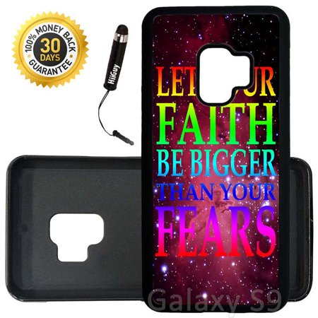 Faith Rubber (Custom Galaxy S9 Case (Nebula Faith Quote) Edge-to-Edge Rubber Black Cover Ultra Slim | Lightweight | Includes Stylus Pen by Innosub )