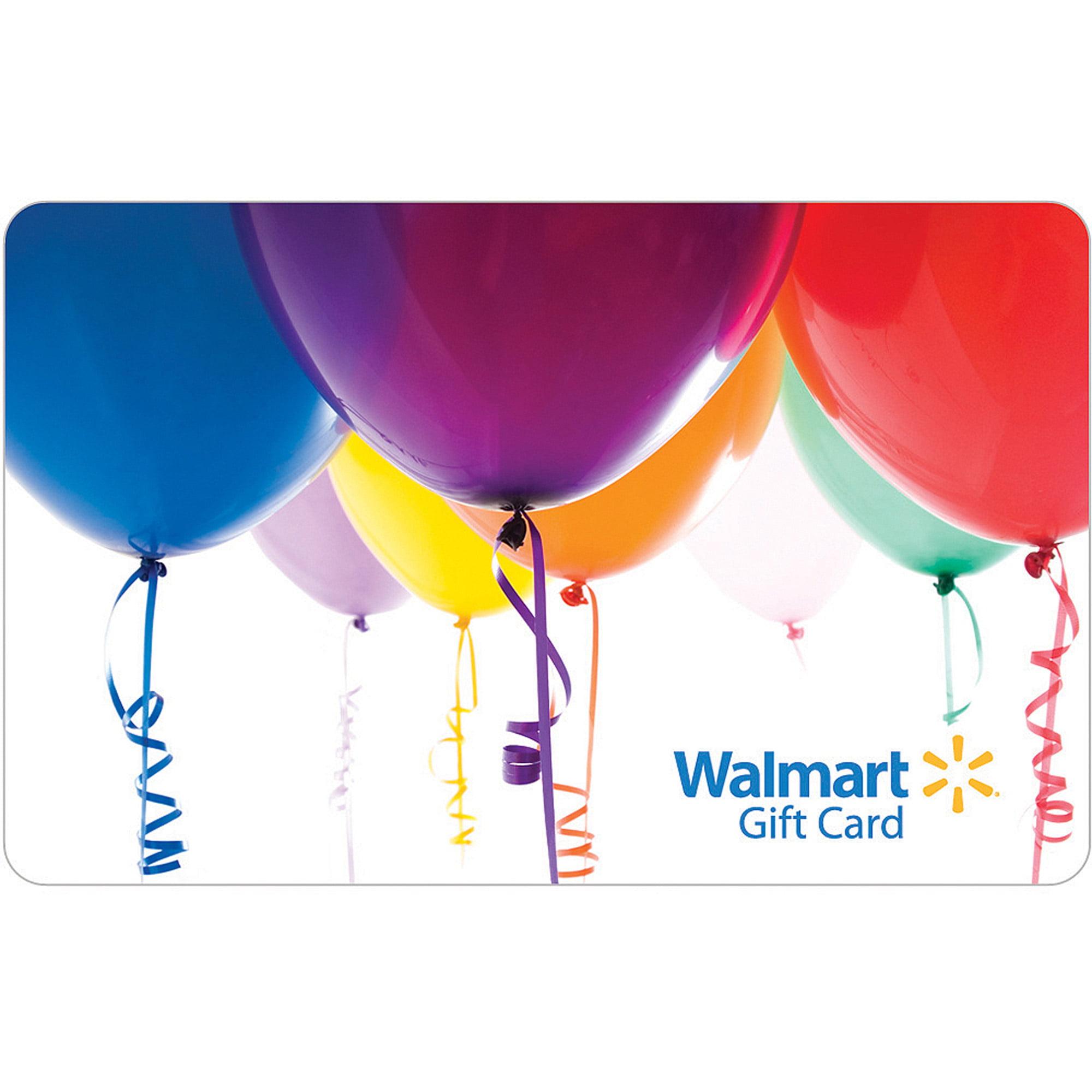 Balloons gift card walmart 1betcityfo Choice Image