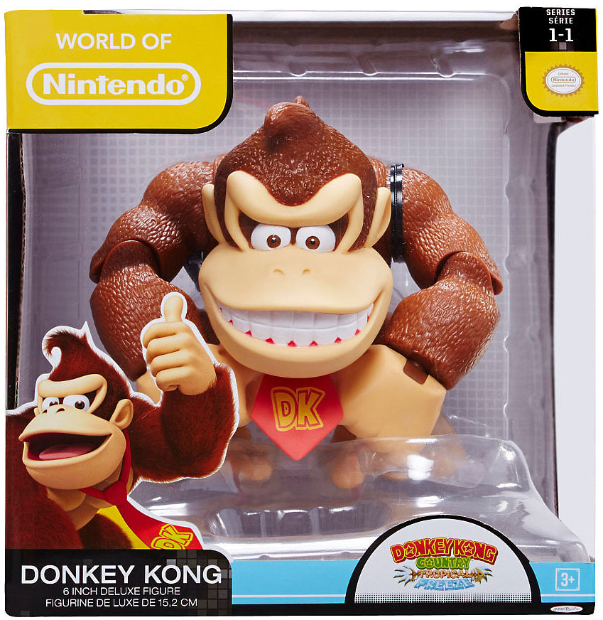 World of Nintendo Series 1 Donkey Kong Deluxe Action Figure
