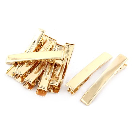 Duckbill Alligator Hair Clip Hairclip Hairpin Barrette Gold Tone 4.5cm Long 8pcs