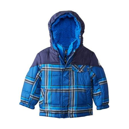 bb3b0119af44 Zero Xposur - Zero Xposur Infant Boys Blue Plaid Coat Winter Puffer ...