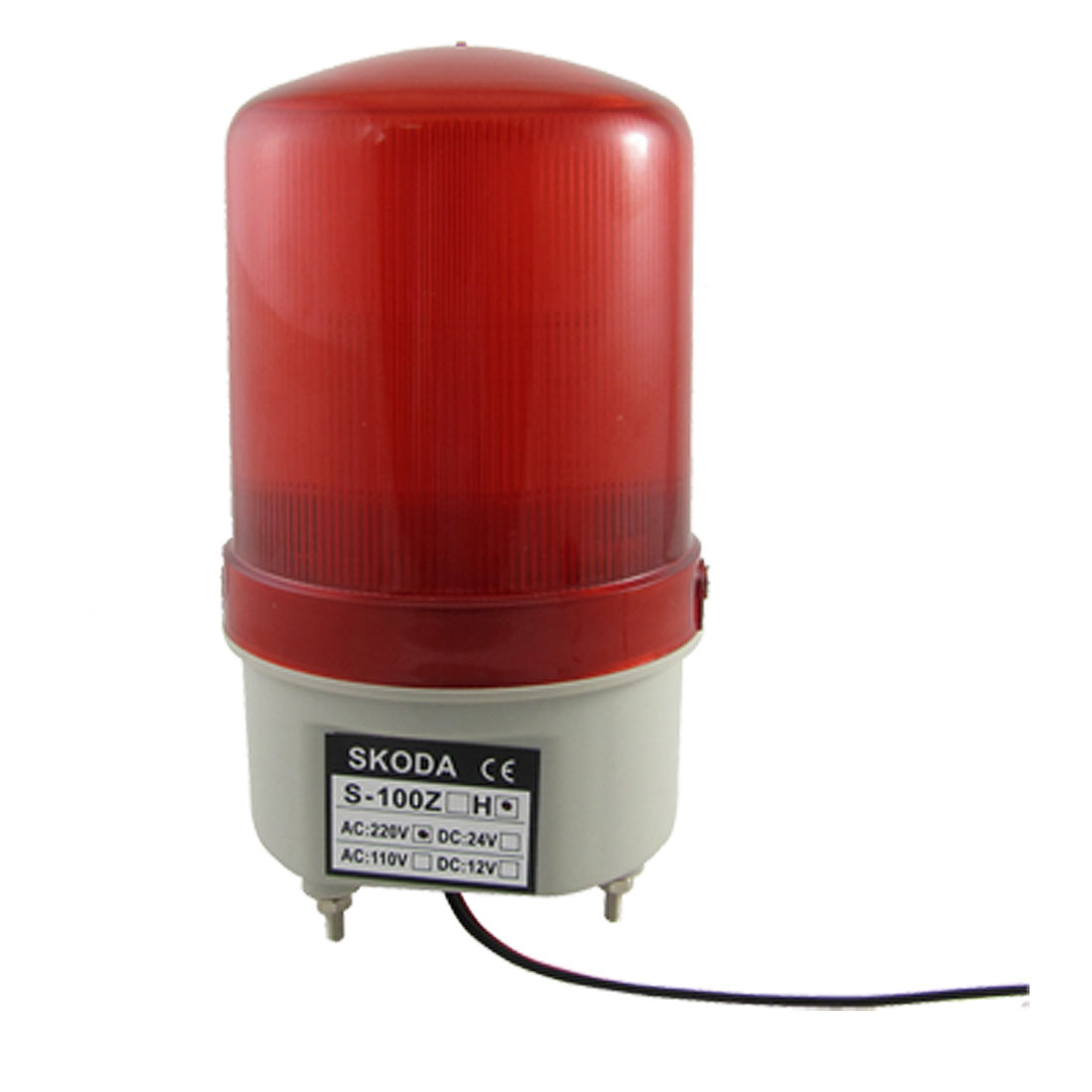 Red Flash LED Industry Signal Tower Buzzer Sound Alarm Light Lamp AC