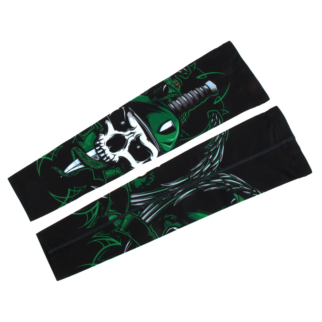 XINTOWN Authorized Skull Pattern Wrap Golf Arm Sleeves Support Protector M Pair