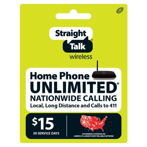 Straight Talk Wireless $30 1GB Unlimited Home Phone Plan