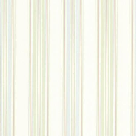 Brewster Clancy Green Shiny Multi Stripe Wallpaper