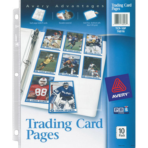 Avery Trading Card Pages, 10pk