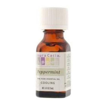 Aura Cacia 100% Pure Essential Oil Cooling Peppermint (Mentha X Piperita) - 0.5 Oz