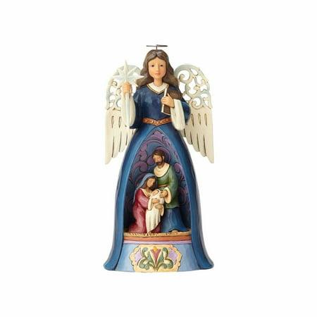Jim Shore Heartwood Creek 4058798 Nativity Angel w/Pierced Wings 2017