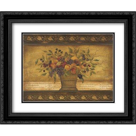 Old World Abundance I 2x Matted 24x20 Black Ornate Framed Art Print by Poloson, Kimberly ()