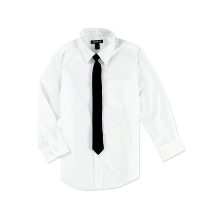 George Boys Packaged Dress Shirt with Black Tie