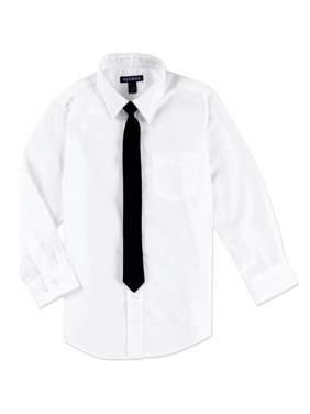 George Packaged Dress Shirt with Black Tie (Little Boys & Big Boys)