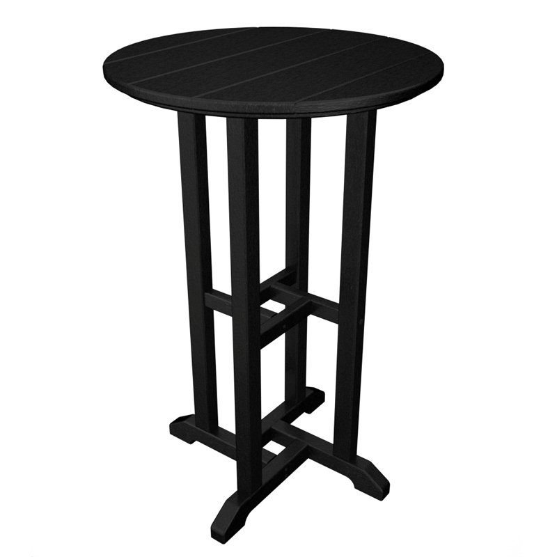 POLYWOOD® Traditional 24 in. Round Counter Height Table