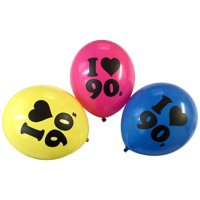 90s Balloons 10 Latex 90s Theme Balloons Assorted Colors