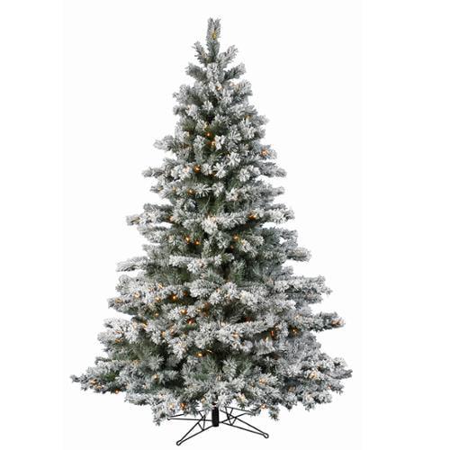 14' Pre-lit Flocked Aspen Artificial Christmas Tree  - Warm White LED Lights