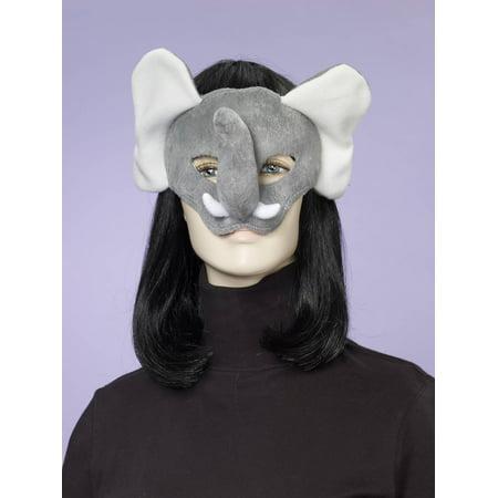 Deluxe Fuzzy Animal Mask Adult: Elephant One Size - image 1 de 1