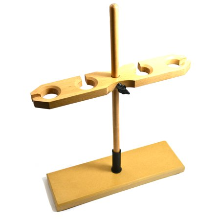 eisco labs adjustable wooden funnel stand for 4 funnels, 1.5