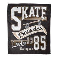 ASHLEIGH Throw Blanket 58x80 Inches Skateboard London Skate Board Graphics Boy Sport Skater Urban Modern Teenager Warm Flannel Soft Blanket for Couch Sofa Bed