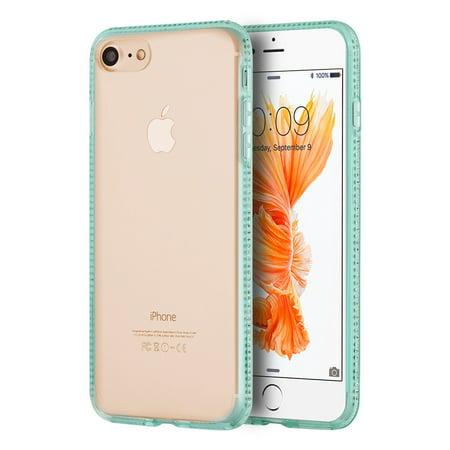 Apple Iphone 7 Simply Bling TPU Case With Diamond Border - - Blue Diamond Bling
