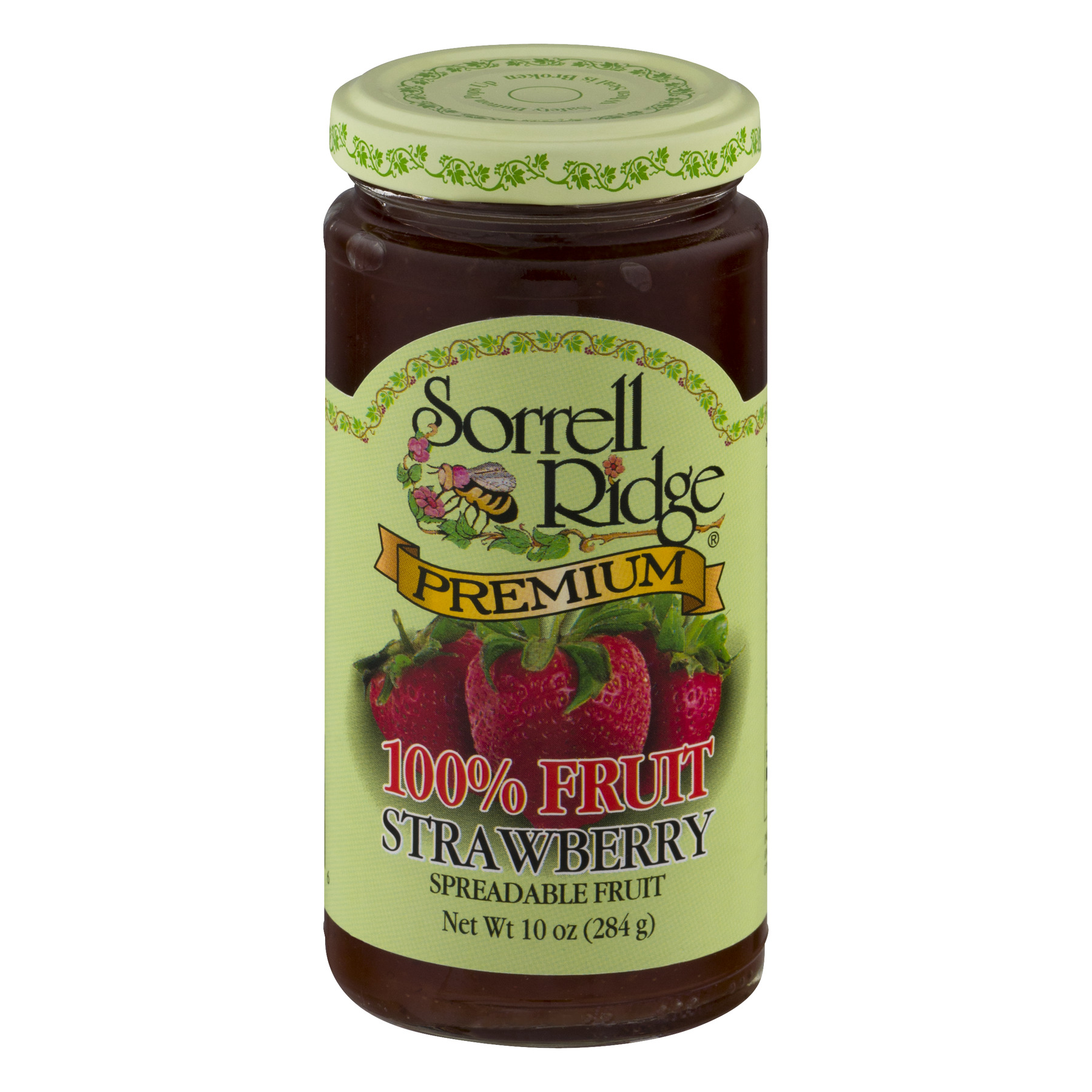 Sorrell Ridge Premium 100% Fruit Strawberry Spreadable Fruit, 10.0 OZ