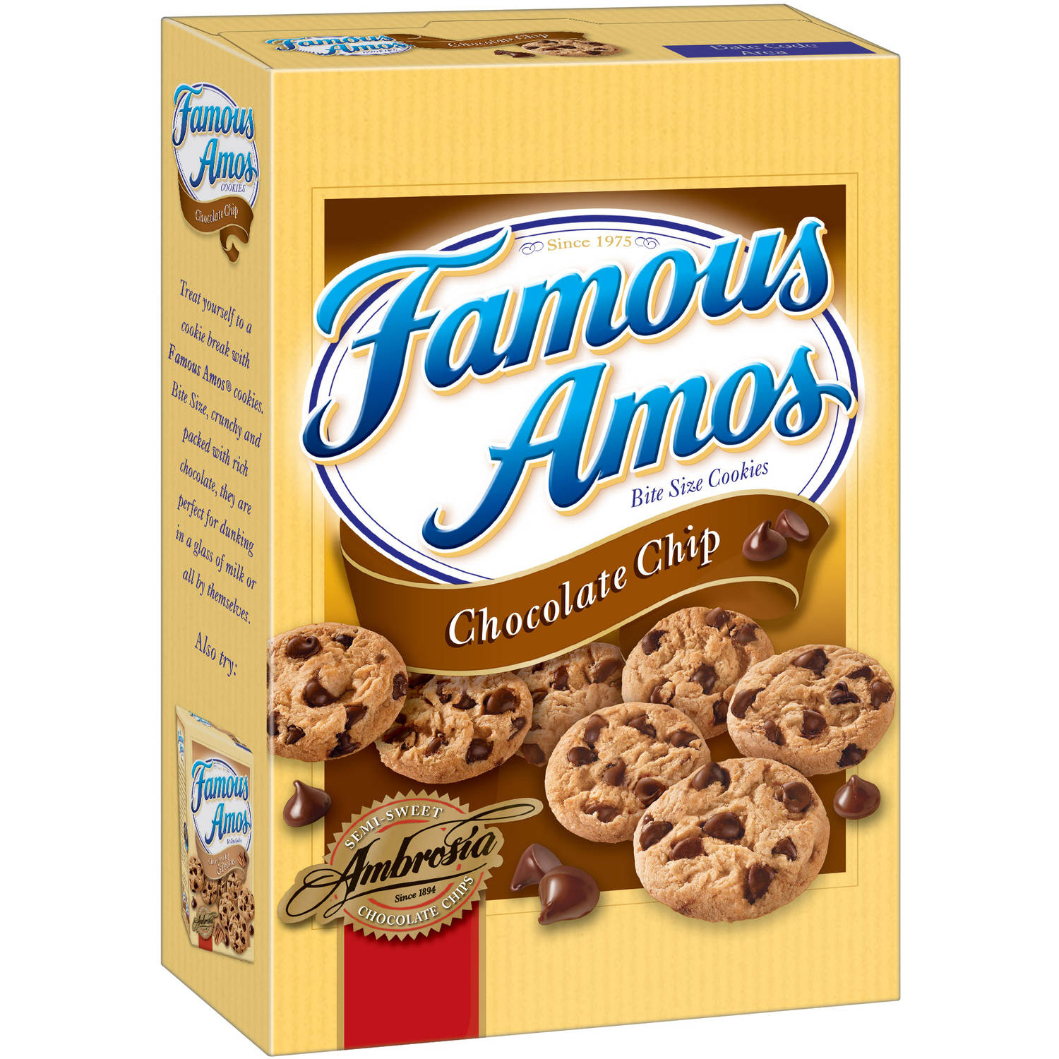 Famous Amos Bite Size Chocolate Chip Cookies, 12.4 oz
