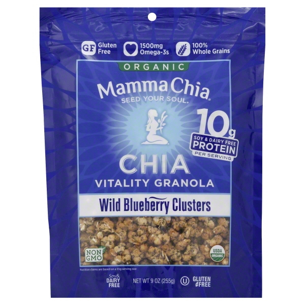 Mamma Chia Chia Granola Clusters Wild Blueberry, 9 Oz
