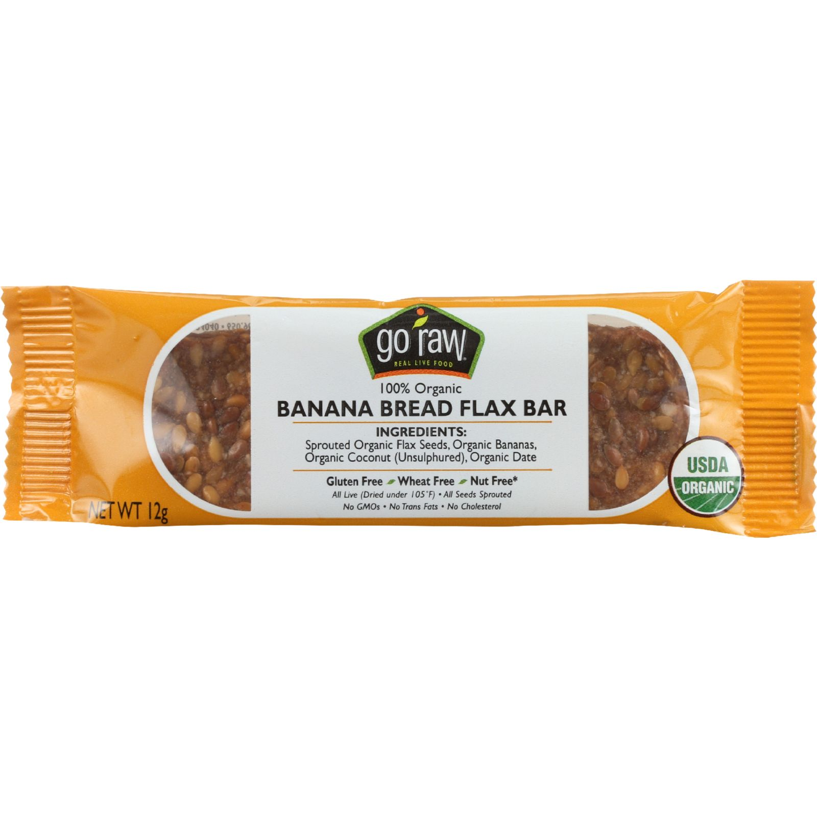 Go Raw Banana Bread Flax .42 Oz -Pack of 10