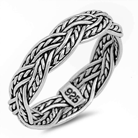 Celtic Design Fashion Band .925 Sterling Silver ring Sizes 7-13