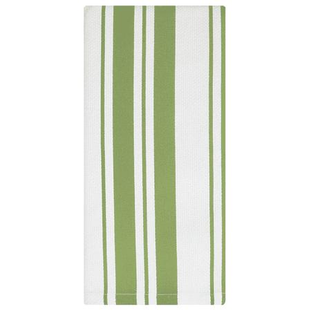 MU Kitchen Cotton Stripe Basketweave Dish Towel - Pistachio ...