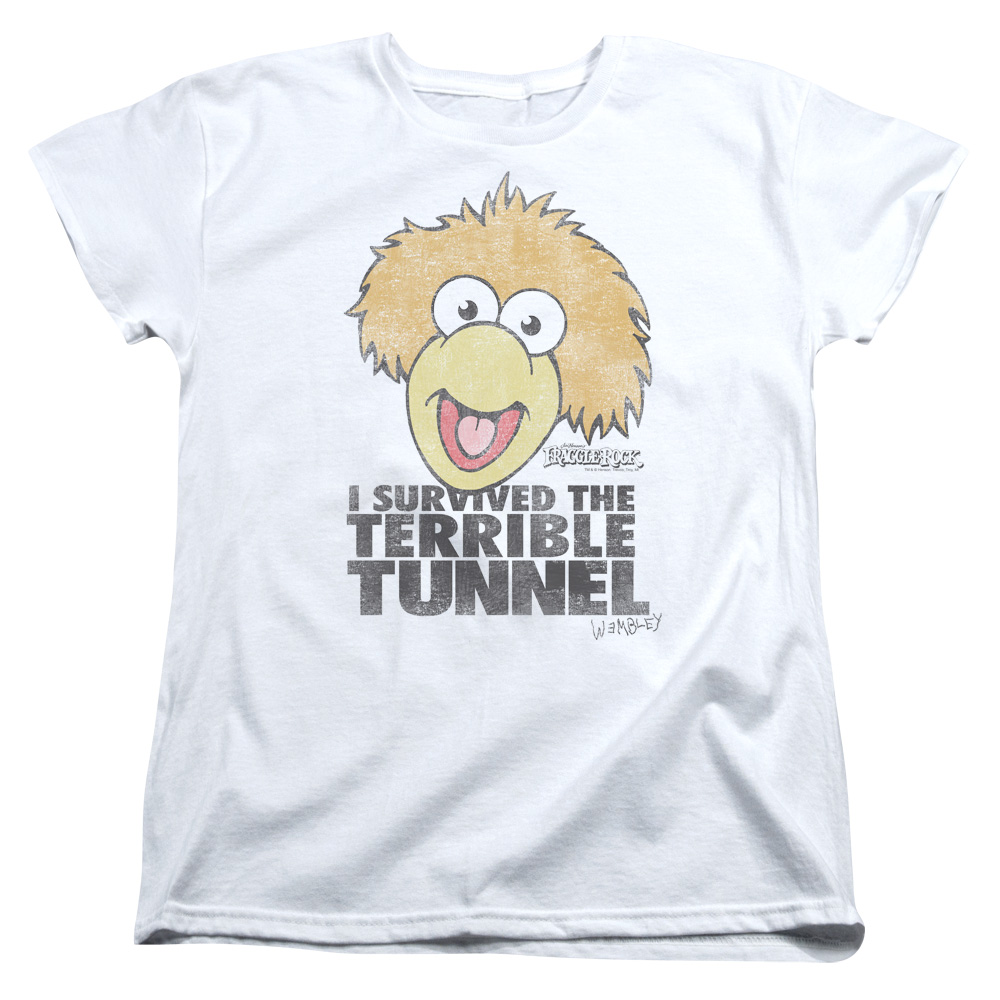 Fraggle Rock Terrible Tunnel Womens Short Sleeve Shirt