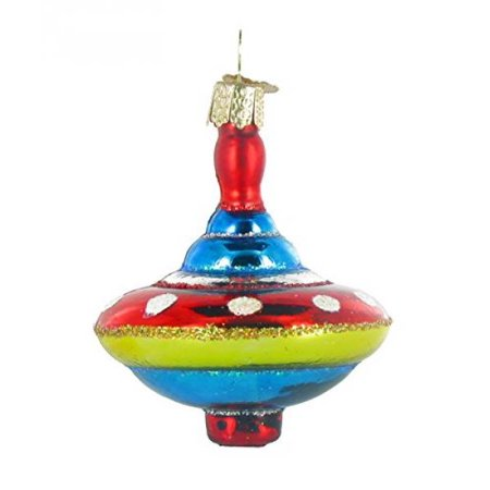 Vintage Spinning Toy Top Glass Old World Christmas Ornament 44066 New FREE BOX ()