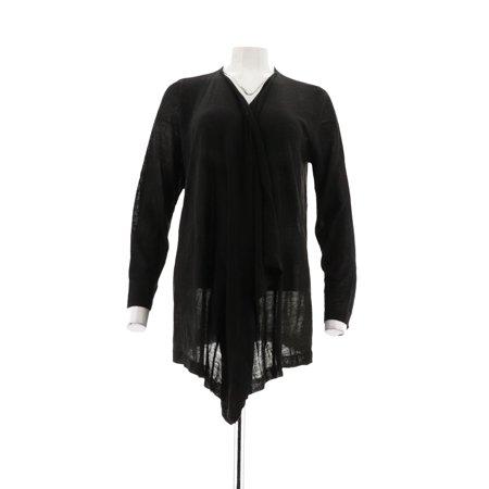 - Susan Graver Sweater Knit Light Cascade Cardigan A257111