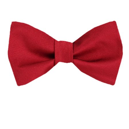 Men's Red and Burgundy Silk Solid Self Tie Bowtie Tie Yourself Bow Ties (Silk Self Tie Bow Tie)