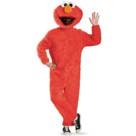Sesame Street Elmo Plush Prestige Men's Adult Halloween Costume, XL](Men Army Halloween Costume)